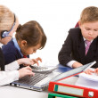 Children working — Stock Photo