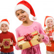 Children with presents — Stock Photo