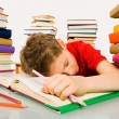 Sleep during lesson — Stock Photo