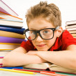 Smart pupil — Stock Photo