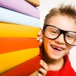 Happy schoolkid — Stockfoto
