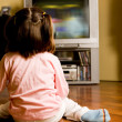 Watching TV - Stock Photo