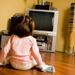 Watching cartoons - Stock Photo
