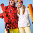 Happy skiers — Stock Photo #11127783