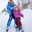 Stock Photo: Skiers