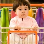 Little shopper — Stock Photo