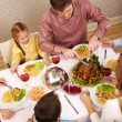 Family eating - Stock Photo