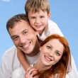 Stock Photo: Cheerful family