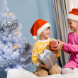 Stock Photo: Exchanging gifts