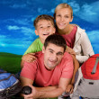 Stock Photo: Resting family