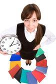 Hembra con reloj — Foto de Stock