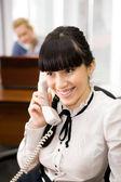 Telefonický rozhovor — Stock fotografie