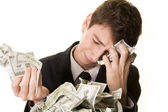 The money has simply vanished — Stock Photo