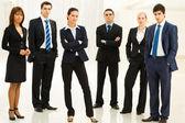 Contemporary employees — Stock Photo