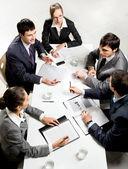 бизнес брифинг — Стоковое фото