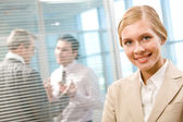 Happy employer — Stock Photo