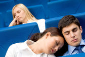 Sleep during conference — Stock Photo