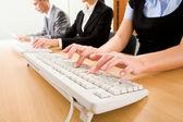 Working secretaries — Stock Photo