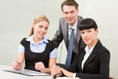 Company of co-workers — Stock Photo