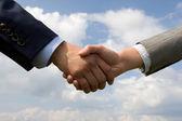 Handshaking — Stock Photo