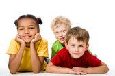 Три ребенка — Стоковое фото
