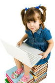 Learning with laptop — Stock Photo