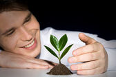 Cultivation of plant — Stock Photo
