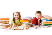 Two schoolkids — Stock Photo