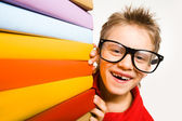 Happy schoolkid — Foto Stock