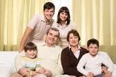 Große familie — Stockfoto