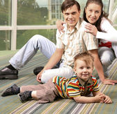 Parents and son — Stock Photo