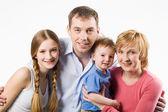 Familie porträt — Stockfoto