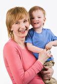 Kvinna med barn — Stockfoto