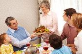 Family at dinner — Stock Photo