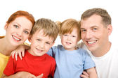 Cheerful family — Stock Photo