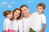 Joyful family — Stock Photo