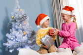 Exchanging gifts — Stock Photo