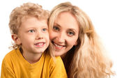 Youngster and his mother — Stock Photo