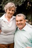 Старшая пара — Стоковое фото