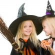 Two girl witches - Stock Photo