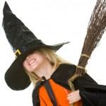 Girl in Halloween attire — Stock Photo #11147299