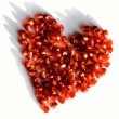 Pomegranate heart — Stockfoto