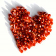 Pomegranate heart - Stock Photo