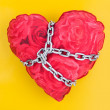 Chained heart - Stock Photo