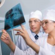 Showing x-ray photography — Stock Photo