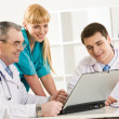 Physicians at work — Stock Photo