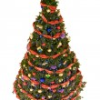 Stock Photo: Decorated firtree