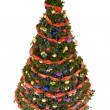Decorated firtree — Stock Photo