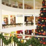 At Christmas mall — Stock Photo