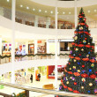 Stock Photo: Firtree in shopping center
